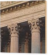 Closeup Of The U.s. Supreme Court Wood Print