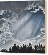 Clouds And Sky Wood Print