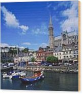 Cobh Cathedral & Harbour, Co Cork Wood Print