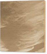 Coffee Clouds Wood Print