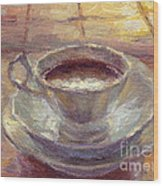 Coffee Cup Still Life Painting Wood Print