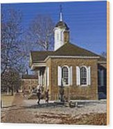 Colonial Williamsburg Courthouse Wood Print