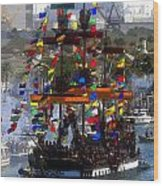 Colors Of Gasparilla Wood Print by David Lee Thompson
