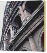 Coloseum Wood Print