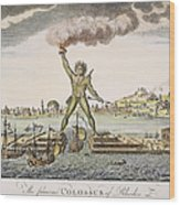 Colossus Of Rhodes Wood Print by Granger