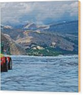 Columbia Glacier Wood Print