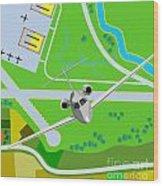 Commercial Jet Plane Wood Print by Aloysius Patrimonio
