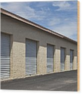 Commercial Storage Facility Wood Print by Paul Edmondson