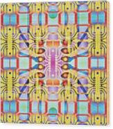 Computer Artwork Representing A Circuit Board Wood Print