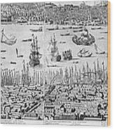 Constantinople, 1713 Wood Print