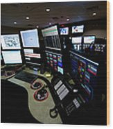 Control Room Center For Emergency Wood Print