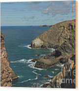 Cornish Seascape St Agnes  Wood Print
