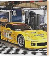 Corvette Racing C5r Wood Print