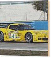Corvette Racing C6r Wood Print