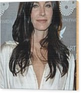 Courteney Cox Arquette At Arrivals Wood Print