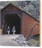 Covered Bridge Walkers Wood Print