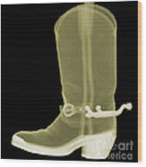 Cowboy Boot X-ray Wood Print