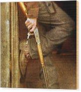 Cowboy With Guns  Wood Print