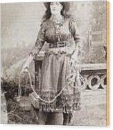 Cowgirl Wood Print