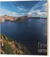 Crater Lake Blues Wood Print