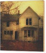 Creepy Abandoned House Wood Print