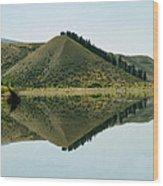 Cromwell Dam Reflections Wood Print