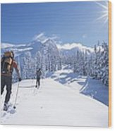 Cross-country Skiers In The Selkirk Wood Print