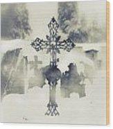 Cross Wood Print by Joana Kruse