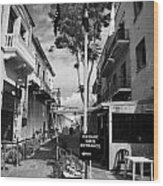 crossing point in ledra street in the UN buffer zone in the green line dividing cyprus Wood Print