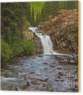 Crystal River Waterfall Wood Print