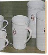 Cups Wood Print