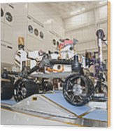 Curiosity Rover In The Testing Facility Wood Print