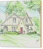 Custom House Rendering Sample Wood Print