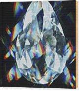 Cut And Polished Diamond Wood Print