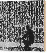 Cycling Silhouette Wood Print by Carlos Caetano