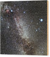 Cygnus And Lyra Constellations Wood Print by Eckhard Slawik