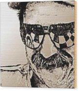 Dale Earnhardt Sr In 1995 Wood Print