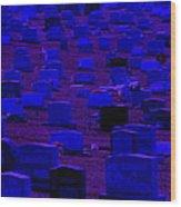 Dark Cemetery Wood Print by Jose Lopez