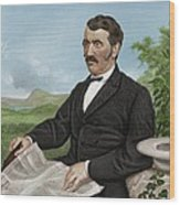 David Livingstone, Scottish Explorer Wood Print