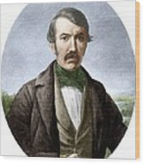David Livingstone, Scottish Explorer Wood Print by Sheila Terry