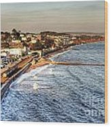 Dawlish Sea Wall Wood Print