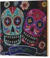 Day Of The Dead Couple Wood Print