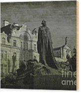 Death In Prague Wood Print by Lee Dos Santos