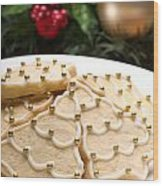 Decorated Cookies In Festive Setting Wood Print