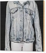 Denim Jacket Wood Print