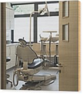 Dentist Chair Wood Print