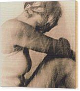 Depressed Woman Wood Print