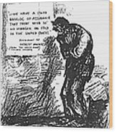 Depression Cartoon, 1932 Wood Print