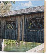deShutes River Bridge Wood Print