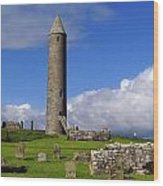 Devenish Monastic Site, Co. Fermanagh Wood Print